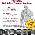 Plakat zum Filmfestival: 200 Jahre Theodor Fontane