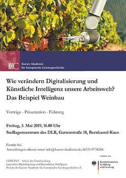 Plakat Digitalisierung und KI in der Arbeitswelt: das Beispeil Weinbau