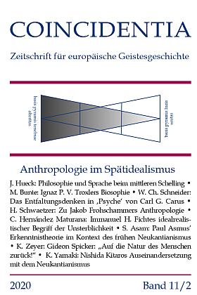 Titelseite der Coincidentia, Band 11 Heft 2, 2020; Anthropologie im Spätmittelalter