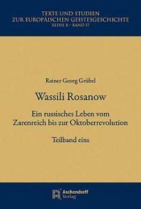 Cover zu Reiner Georg Grübel: Wassili Rosanow.